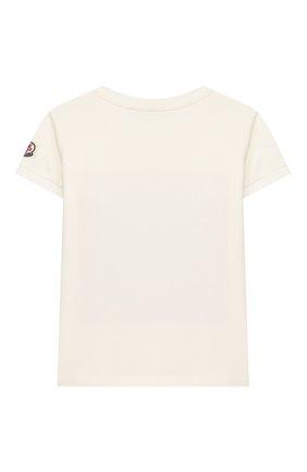 Детская хлопковая футболка MONCLER белого цвета, арт. F1-954-8C710-10-8790A/8-10A | Фото 2