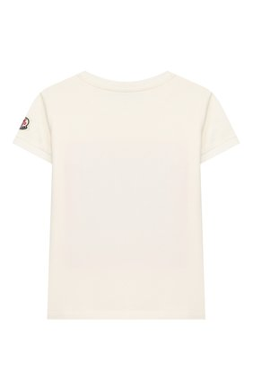 Детская хлопковая футболка MONCLER белого цвета, арт. F1-954-8C710-10-8790A/12-14A | Фото 2