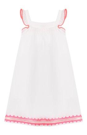Детское хлопковое платье SUNUVA белого цвета, арт. S2373/7-14 | Фото 2