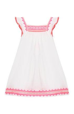 Детское хлопковое платье SUNUVA белого цвета, арт. S2373/1-6 | Фото 1