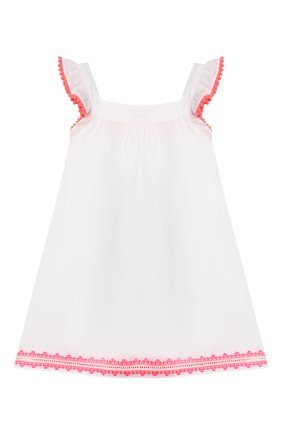 Детское хлопковое платье SUNUVA белого цвета, арт. S2373/1-6 | Фото 2