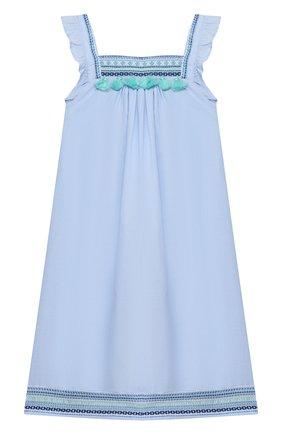 Детское хлопковое платье SUNUVA голубого цвета, арт. S2372/7-14 | Фото 1