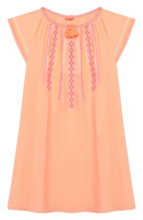 Детское хлопковая туника SUNUVA розового цвета, арт. S2371/7-14 | Фото 1