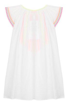Детское хлопковая туника SUNUVA белого цвета, арт. S2370/7-14 | Фото 2