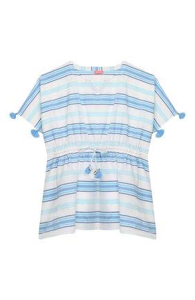 Детская хлопковая туника SUNUVA голубого цвета, арт. S2315/7-14 | Фото 1