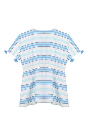 Детская хлопковая туника SUNUVA голубого цвета, арт. S2315/7-14 | Фото 2