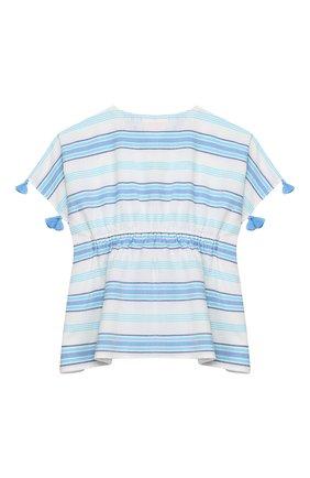 Детская хлопковая туника SUNUVA голубого цвета, арт. S2315/1-6 | Фото 2