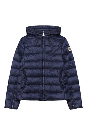 Детского пуховая куртка MONCLER темно-синего цвета, арт. F1-954-1A131-10-53048/12-14A   Фото 1
