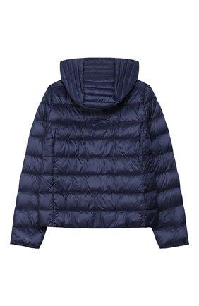 Детского пуховая куртка MONCLER темно-синего цвета, арт. F1-954-1A131-10-53048/12-14A   Фото 2
