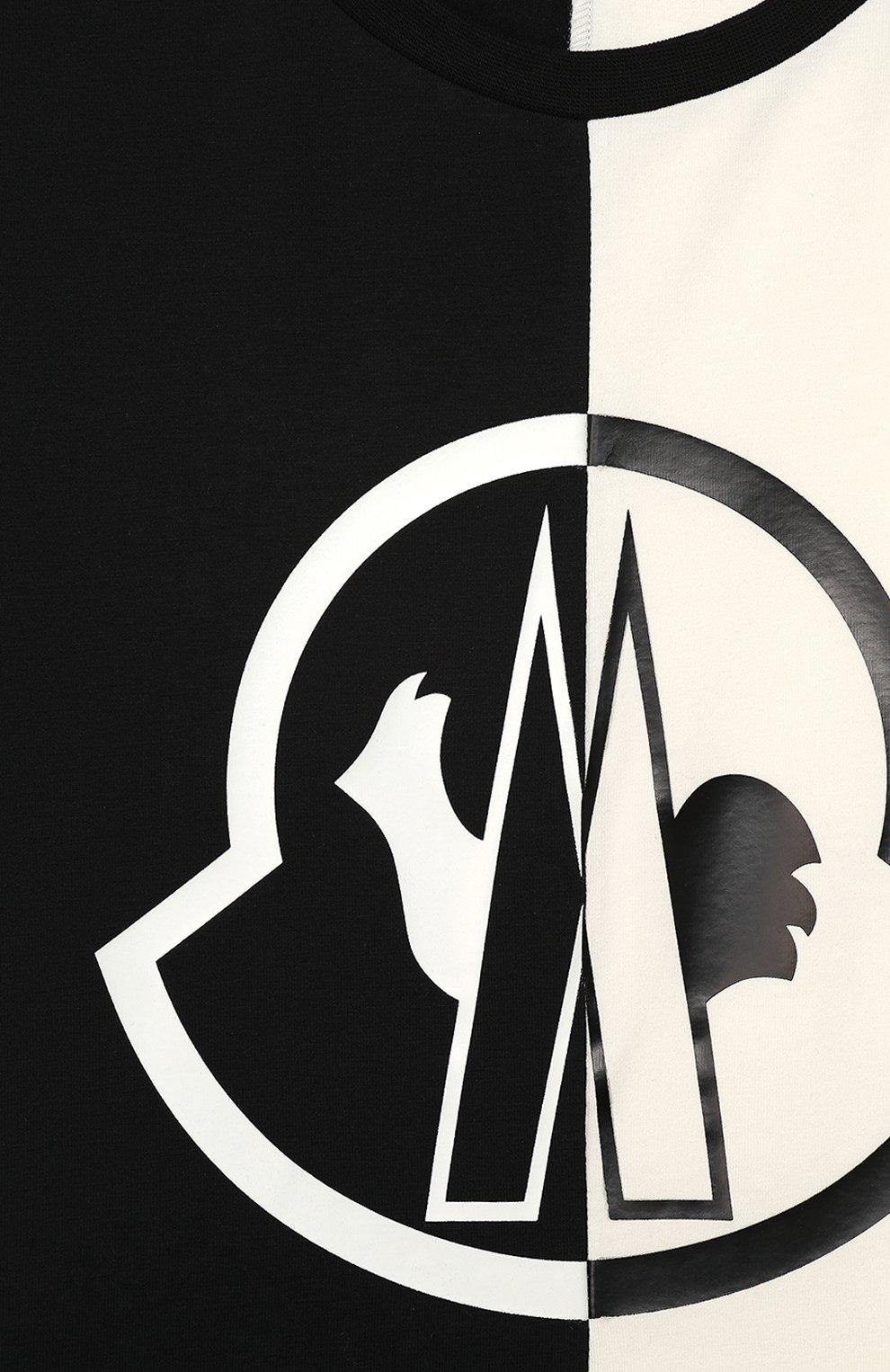 Детская хлопковая футболка MONCLER черного цвета, арт. F1-954-8C700-10-8790A/8-10A | Фото 3
