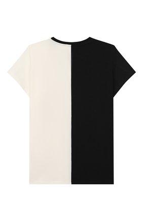 Детская хлопковая футболка MONCLER черного цвета, арт. F1-954-8C700-10-8790A/4-6A   Фото 2