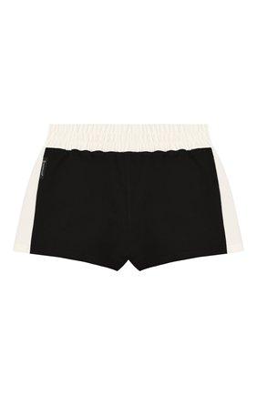 Детские хлопковые шорты MONCLER черного цвета, арт. F1-954-8H707-10-809DQ/8-10A | Фото 2