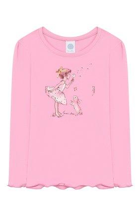 Детская хлопковая пижама SANETTA розового цвета, арт. 232420 3813 | Фото 2