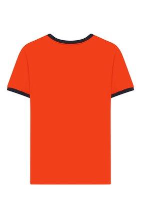 Детская хлопковая футболка SANETTA оранжевого цвета, арт. 244696 2482 | Фото 2