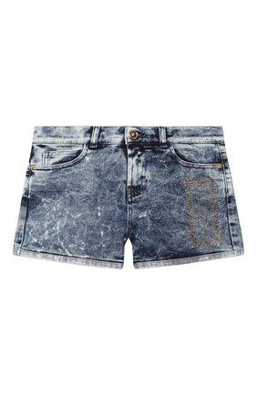 Детские джинсовые шорты VERSACE голубого цвета, арт. YC000220/A233594/8A-14A | Фото 1