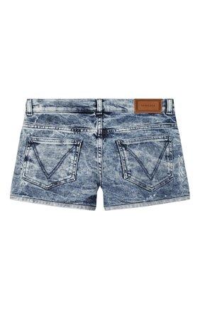 Детские джинсовые шорты VERSACE голубого цвета, арт. YC000220/A233594/8A-14A | Фото 2