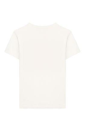 Детская хлопковая футболка VERSACE белого цвета, арт. YC000392/YA00079/8A-14A | Фото 2