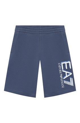 Детские хлопковые шорты EA 7 синего цвета, арт. 3HBS52/BJ05Z | Фото 1