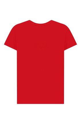 Детская хлопковая футболка EA 7 красного цвета, арт. 3HBT61/BJT3Z | Фото 2