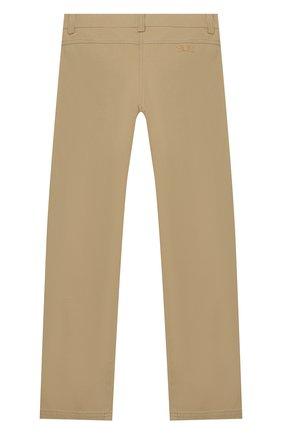 Детского хлопковые брюки ERMANNO SCERVINO бежевого цвета, арт. 46I PL01 GAB/10-16   Фото 2