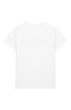 Детская хлопковая футболка DONDUP белого цвета, арт. YS189/JY0014G/ZA30 | Фото 2