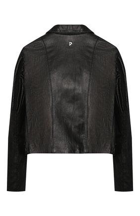 Детская кожаная куртка DONDUP черного цвета, арт. YJ246/PY0003G/XXX | Фото 2