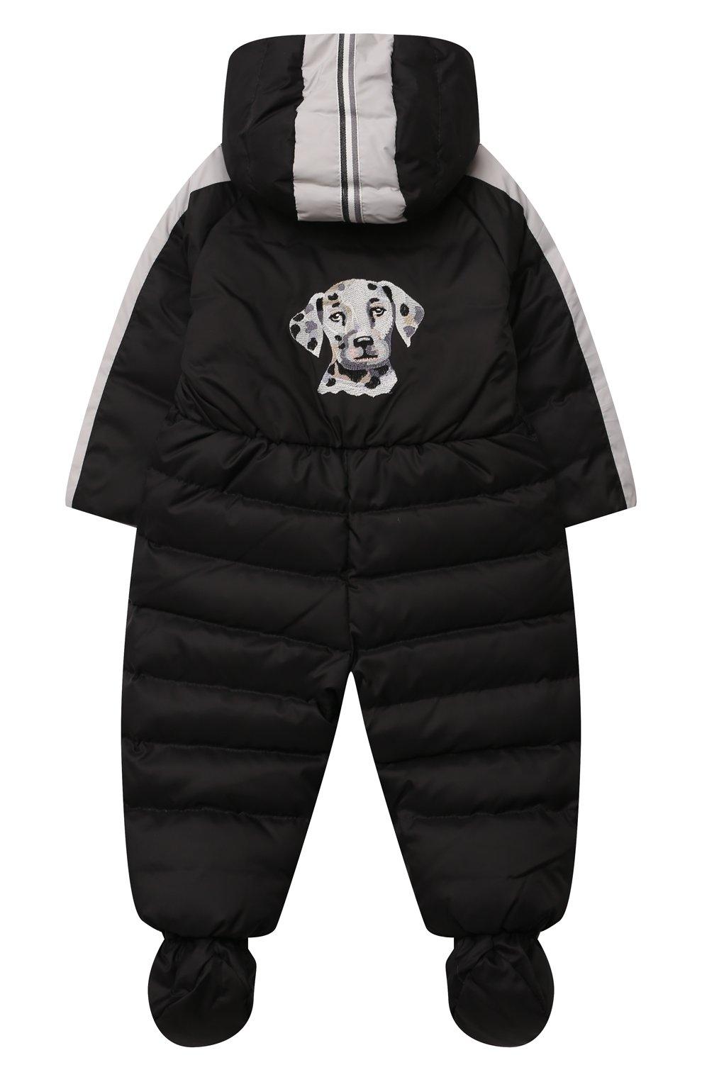 Детский пуховый комбинезон CHEPE черно-белого цвета, арт. 391142 | Фото 2