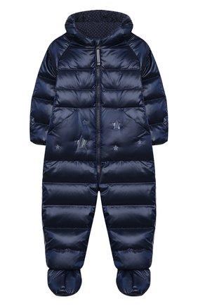 Детский пуховый комбинезон CHEPE темно-синего цвета, арт. 391077 | Фото 1