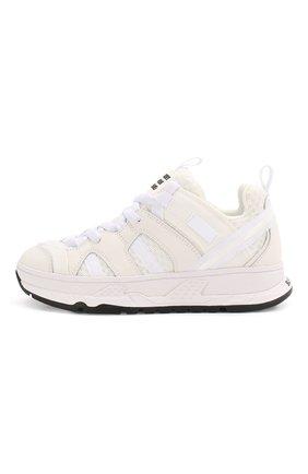 Детские кроссовки BURBERRY белого цвета, арт. 8018857 | Фото 2