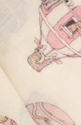 Детского одеяло из кашемира и шерсти ATELIER CHOUX белого цвета, арт. CASHMERE BLANKET-H0T AIR BALL00N | Фото 2
