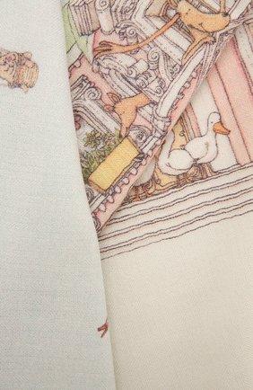 Детского одеяло из кашемира и шерсти ATELIER CHOUX белого цвета, арт. CASHMERE BLANKET-M0NCEAU MANSI0N | Фото 2