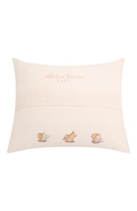 Детского хлопковая подушка ATELIER CHOUX белого цвета, арт. CUSHI0N-CAR0USSEL | Фото 2