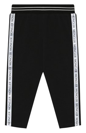 Детские хлопковые брюки MONCLER черного цвета, арт. F1-951-8H703-10-8790A | Фото 1