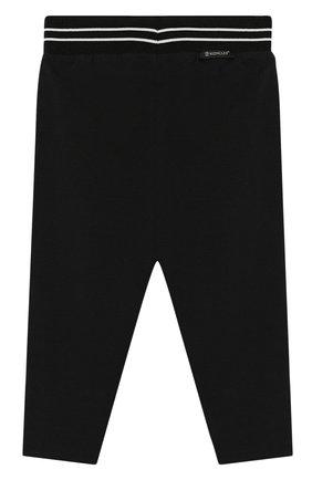 Детские хлопковые брюки MONCLER черного цвета, арт. F1-951-8H703-10-8790A | Фото 2