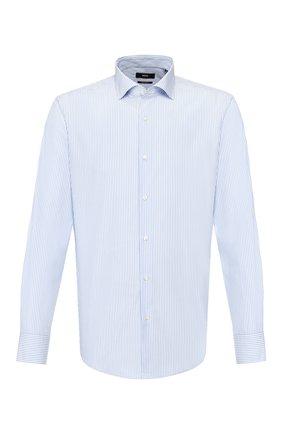 Мужская хлопковая сорочка BOSS голубого цвета, арт. 50427726 | Фото 1