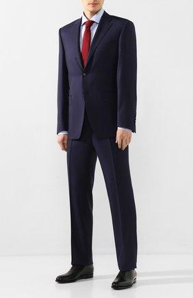 Мужская хлопковая сорочка BOSS голубого цвета, арт. 50427726 | Фото 2