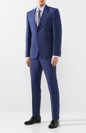 Мужская хлопковая сорочка BOSS голубого цвета, арт. 50427201 | Фото 2