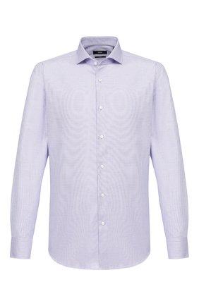 Мужская хлопковая сорочка BOSS синего цвета, арт. 50427434 | Фото 1