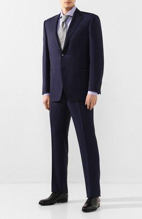 Мужская хлопковая сорочка BOSS синего цвета, арт. 50427434 | Фото 2