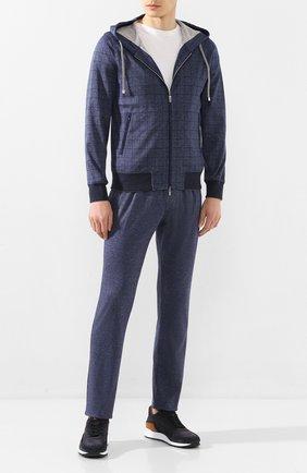Мужской хлопковый спортивный костюм CAPOBIANCO темно-синего цвета, арт. 8MT01.QD00. | Фото 1