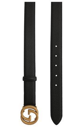 Мужской кожаный ремень GUCCI черного цвета, арт. 474345/CA00T | Фото 2