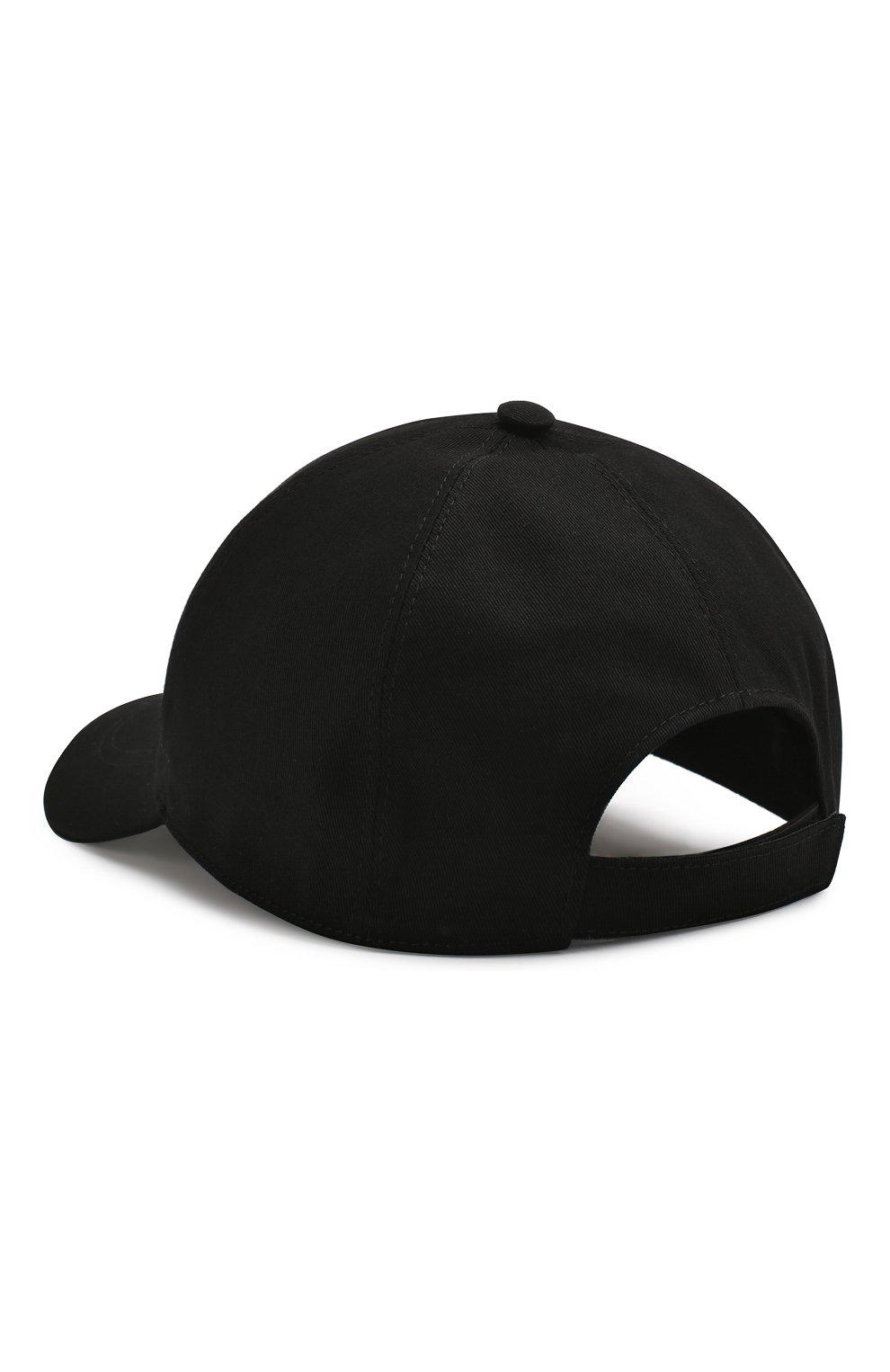 Мужской хлопковая бейсболка safety pin VERSACE черного цвета, арт. ICAP004/A233165 | Фото 2