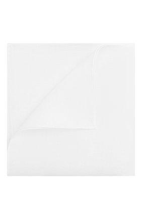 Мужской льняной платок CORNELIANI белого цвета, арт. 00UF42-0020475/00 | Фото 1