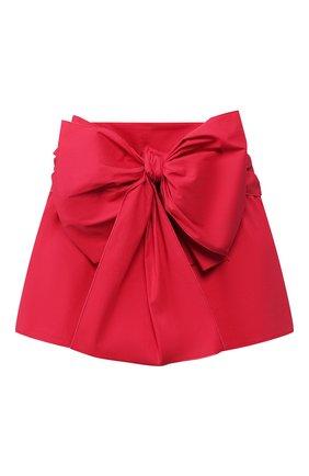 Женские хлопковые шорты REDVALENTINO красного цвета, арт. TR0RFD00/0VU | Фото 1
