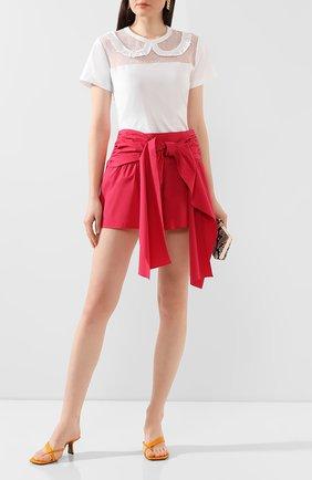 Женские хлопковые шорты REDVALENTINO красного цвета, арт. TR0RFD00/0VU | Фото 2