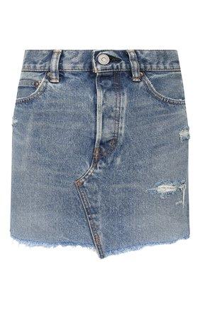 Женская джинсовая юбка MOUSSY голубого цвета, арт. 025DSC11-2360 | Фото 1