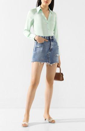 Женская джинсовая юбка MOUSSY голубого цвета, арт. 025DSC11-2360 | Фото 2