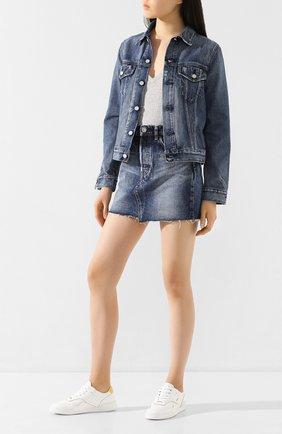 Женская джинсовая куртка MOUSSY голубого цвета, арт. 025DSC11-1160 | Фото 2