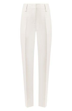 Женские шелковые брюки GIORGIO ARMANI бежевого цвета, арт. 0SHPP09M/T01HI   Фото 1