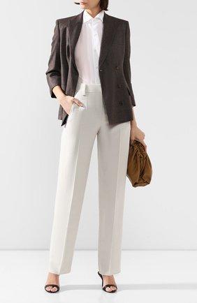 Женские шелковые брюки GIORGIO ARMANI бежевого цвета, арт. 0SHPP09M/T01HI   Фото 2